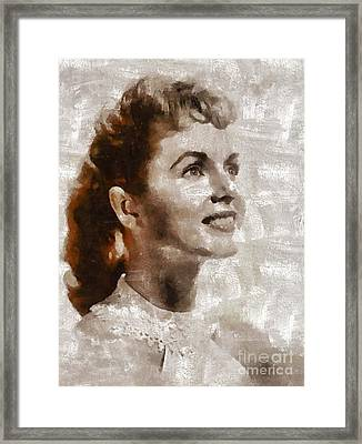 Debbie Reynolds By Mary Bassett Framed Print