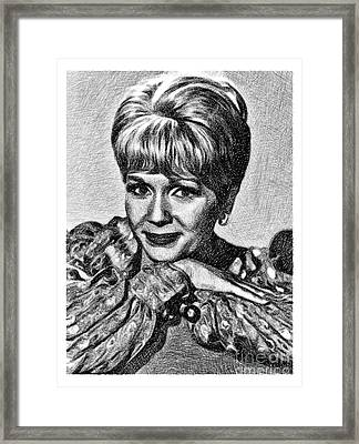 Debbie Reynolds, Vintage Actress By Js Framed Print