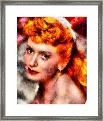 Deborah Kerr, Actress Framed Print by John Springfield