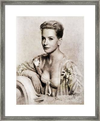 Deborah Kerr, Vintage Actress. Digital Art By John Springfield Framed Print