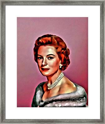 Deborah Kerr, Vintage Actress. Digital Art By Mary Bassett Framed Print