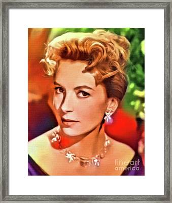 Deborah Kerr, Vintage Actress. Digital Art By Mb Framed Print