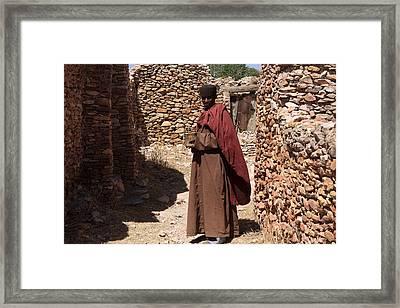 Priest Of Debre Damo Monastery, Ethiopia Framed Print