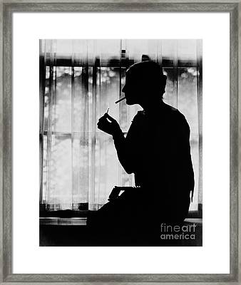 Debutante Smoking 1920 Framed Print