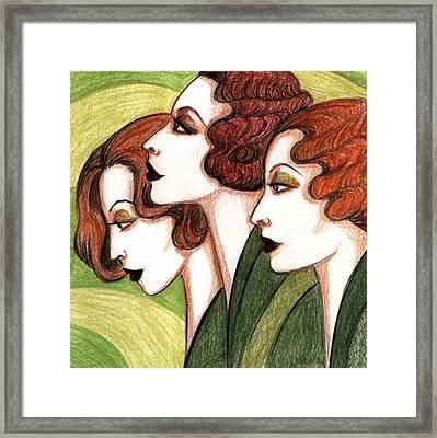 Debutante Trio Framed Print