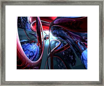Decadence Abstract Framed Print by Alexander Butler