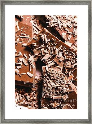Decadent Chocolate Background Texture Framed Print by Jorgo Photography - Wall Art Gallery