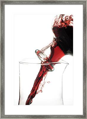 Decanting Red Wine Framed Print by Frank Tschakert