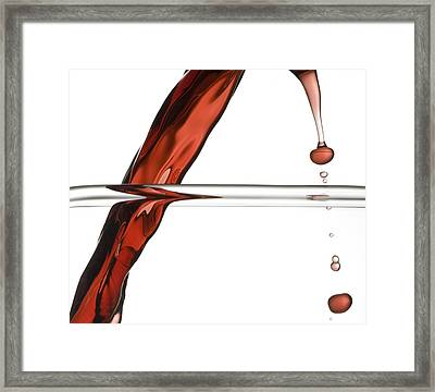 Decanting Wine Framed Print by Frank Tschakert
