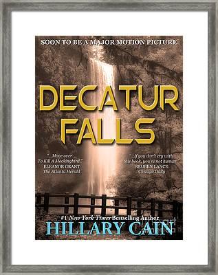 Decatur Falls Book Cover Framed Print