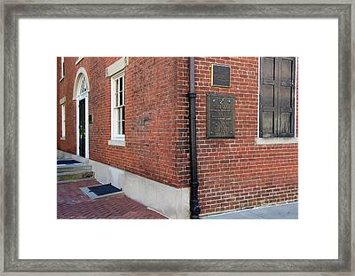 Decatur House Framed Print by Cora Wandel