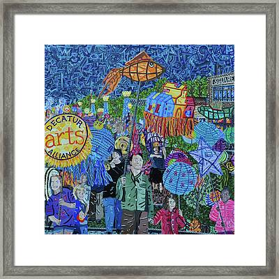 Decatur Lantern Parade Framed Print by Micah Mullen