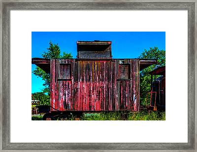 Decaying Caboose Framed Print by Garry Gay