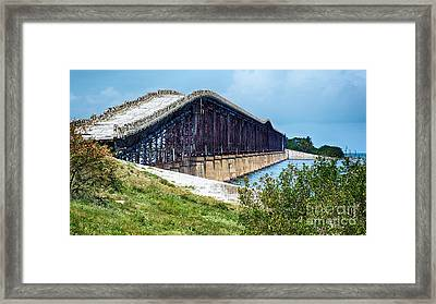 Decaying Monument Of Progress Framed Print