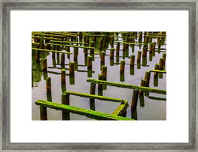 Decaying Old Dock Framed Print