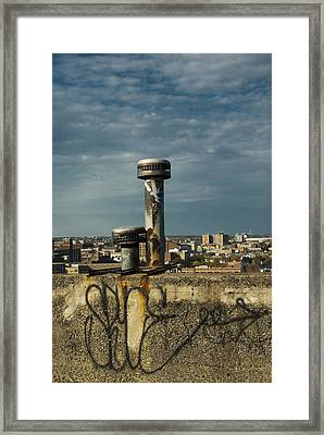 Decaying Skyline Framed Print by Timothy Hedges