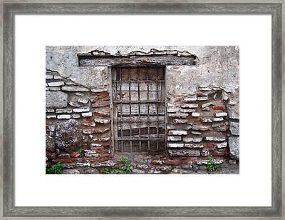 Decaying Wall And Window Antigua Guatemala 2 Framed Print