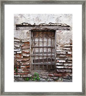 Decaying Wall And Window Antigua Guatemala 3 Framed Print
