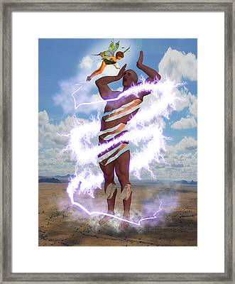 Deceit And Entrapment Framed Print by Solomon Barroa