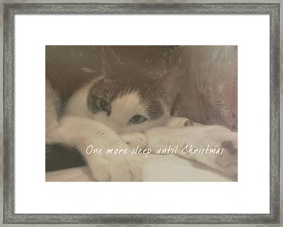 December 24th Quote Framed Print by JAMART Photography