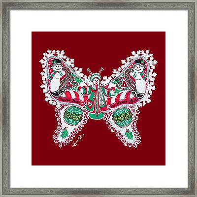December Butterfly Framed Print