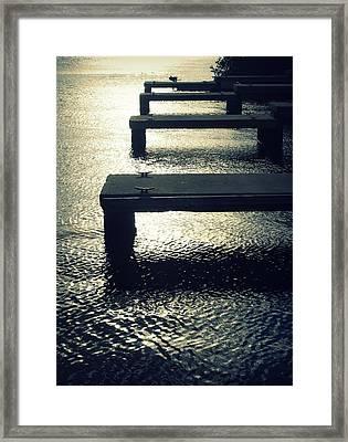December Docks Framed Print by Mandy Shupp