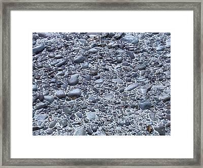 December Dusting Of The Creekbed Framed Print