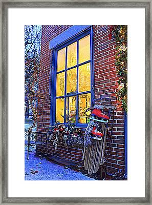 December Evening Framed Print