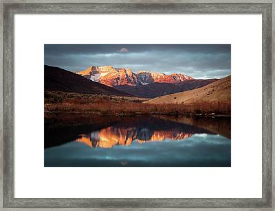 December Glow On Timp. Framed Print