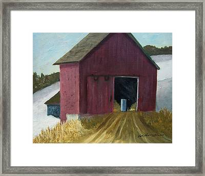 December Hayride Framed Print