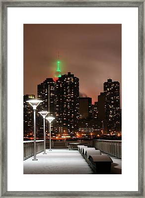December In New York Framed Print by JC Findley