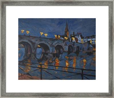 December Lights Old Bridge Maastricht Acryl Framed Print