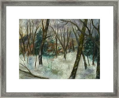 December On Cooper Hill Framed Print