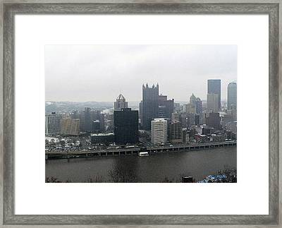 December Pittsburgh Framed Print by David Bearden