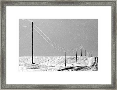 December Drive Framed Print by Todd Klassy