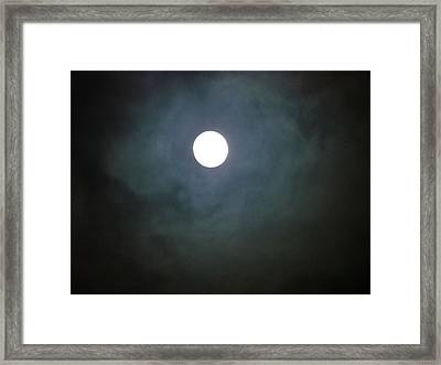 December's Moon Framed Print