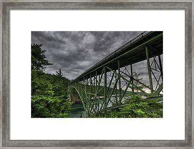 Deception Pass Bridge - Oak Harbor, Wa Framed Print