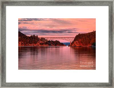 Deception Pass Sunset Reflections Framed Print