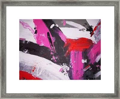 Decided Heart Framed Print by Joey Santiago