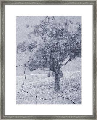Deciduous Blue Framed Print by Tingy Wende