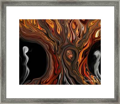 Framed Print featuring the digital art Deciduous by Misha Bean
