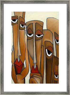 Decision Makers - Abstract Pop Art By Fidostudio Framed Print by Tom Fedro - Fidostudio
