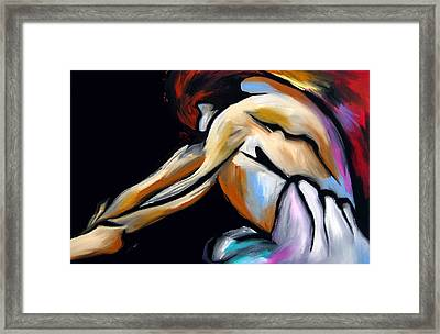 Decision Time - Abstract Nude By Fidostudio Framed Print by Tom Fedro - Fidostudio