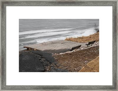 Deck And Benches Framed Print by Richard Mitchell