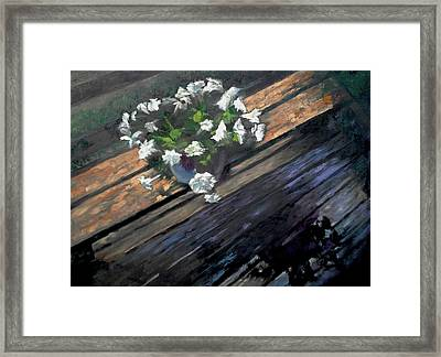 Deck Flowers #1 Framed Print by Brian Kardell