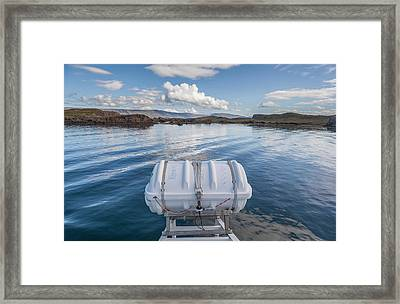 Deck On Ferry Boat, Breidafjordur Framed Print by Panoramic Images
