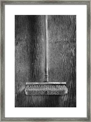 Deck Scrub Brush Framed Print by YoPedro