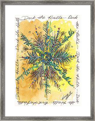 Deck The Halls Snowflake Framed Print by Michele Hollister - for Nancy Asbell