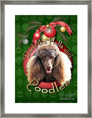 Deck The Halls With Poodles Framed Print by Renae Laughner