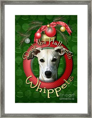 Deck The Halls With Whippets Framed Print by Renae Laughner